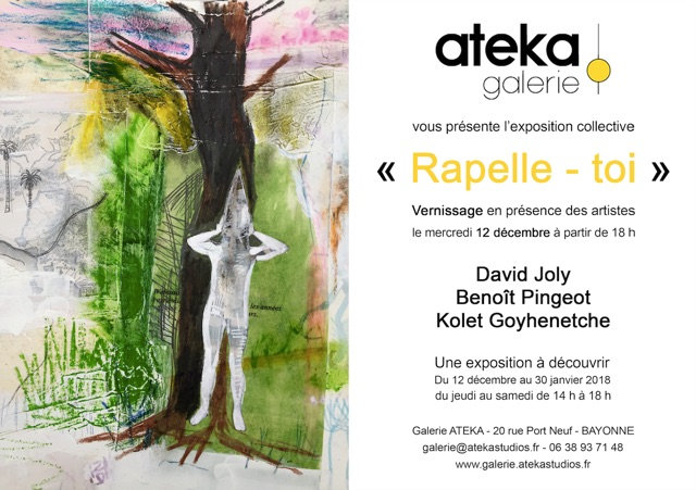 Exposition David Joly )- Rappelle-toi, Galerie Arteka, -Bayonne