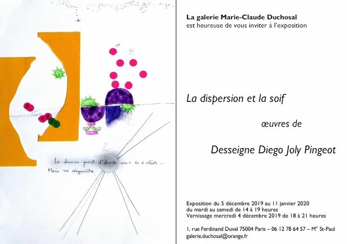 Exposition Dispersion de la soif, David Joly - Galerie Marie-Claude Duchosal
